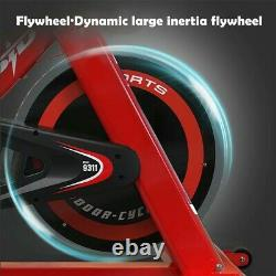 Stationary Exercise Bicycle Indoor Bike Cardio Health Cycling Home Fitness Red