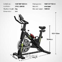 Stationary Exercise Bicycle Indoor Bike LCD Cardio Health Cycling Home Fitness