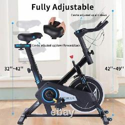 Stationary Exercise Bike Indoor Cycling Bicycle Cardio Fitness Gym Workout 40lb