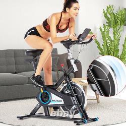 Stationary Exercise Bike Indoor Cycling Bike 40lb Flywheel Belt Drive & APP