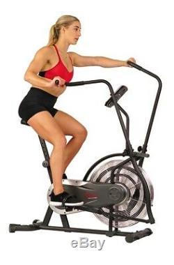Sunny Zephyr Air Resistance Fan Exercise Bike with Adjustable Handlebars SF-B2715