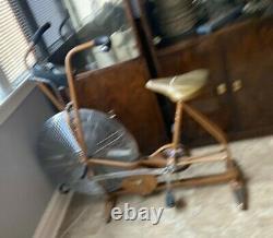 VTG Schwinn Air-Dyne Dual Action Stationary Gold Exercise Bike Pick up Chicago