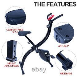 X Bike Excercise Fitness Pedal Training Gym Home Sports Fat Burn Folding Upright