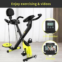 X-Bike Indoor Exercise Bike Cardio Workout Folding Cycling Bike with Twister Board
