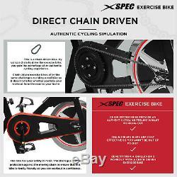 Xspec Elite Indoor Stationary Upright Cycling Exercise Bike, Black